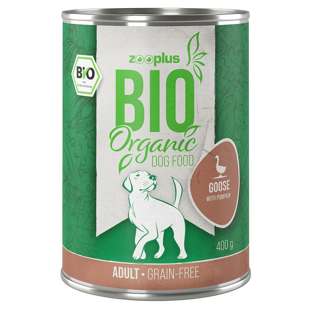 6x800g zooplus Bio oie, potiron - Pâtée pour chien