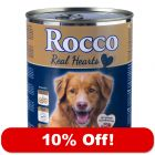 6 x 400g / 800g Rocco Real Hearts - 10% Off!* - Beef with Whole Chicken Hearts (6 x 400g)
