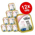INOpets.com Anything for Pets Parents & Their Pets Yarrah Organic Tray Saver Pack 12 x 100g - Chunks: Fish with Spirulina