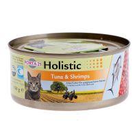 Porta 21 Holistic Kattenvoer 6 x 156 g Tonijn & Garnalen met Groenten, Vruchten in Gelei