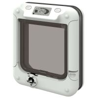 Cat Mate Cat Flap with Timer Control - Wall Liner Tunnel Extension white