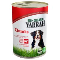 Yarrah Organic Beef & Chicken Chunks with Tomato & Nettle - Saver Pack: 12 x 820g
