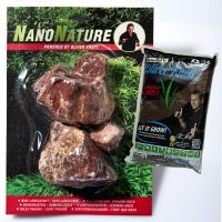NanoNature Fiery Red Rocks Set - 5 rocks + 3 litres NatureSoil brown, fine