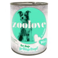 zoolove Wet Dog Food Saver Pack 24 x 800g - Hearty Game Casserole