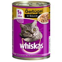 Whiskas 1+ Cans 12 x 400g - Beef in Pate