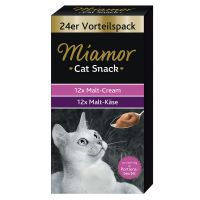 Miamor Cat Snack Malt-Cream & Malt-Cheese Mixed Pack - 48 x 15g