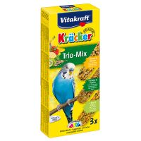 Vitakraft Budgies Crackers Trio-Mix - 3 Sticks: Sesame Seeds/Herbs/Kiwi