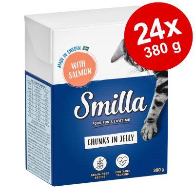 Smilla Chunks in Jelly säästöpakkaus 24 x 380 g - nauta
