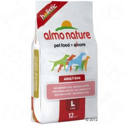 Almo Nature Adult Large Lax & ris – 12 kg