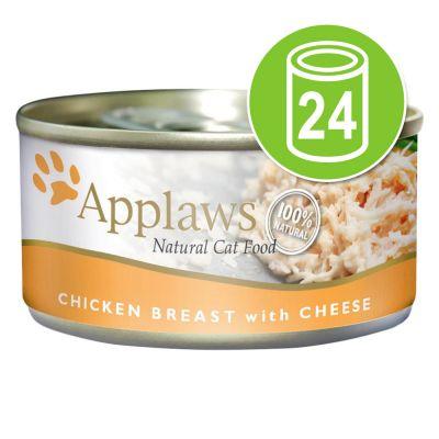 24 x 70 g  Applaws Kippenborst met eend Voordeelpakket Kattenvoer