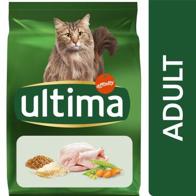 Ultima Adult con pollo para gatos - 2 x 7,5 kg - Pack Ahorro