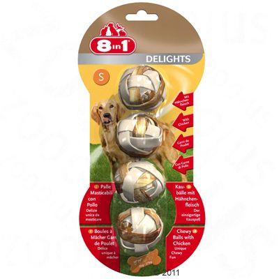 Obraz przedstawiający 8in1 Delights piłkeczki do żucia - S, 4 x 36 g