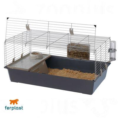 ferplast-rabbit-100-kanin-og-marsvinebur-graa-l-97-x-b-60-x-h-455-cm