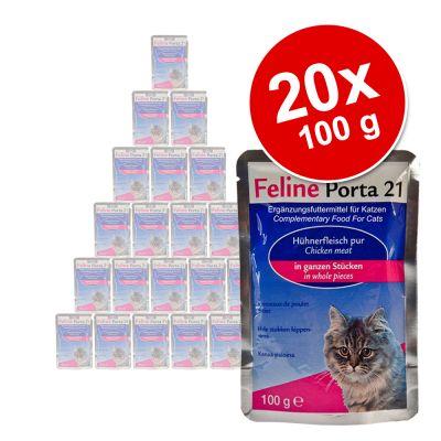 feline-porta-21-portionspose-okonomipakke-20-x-100-g-tun-med-rejer