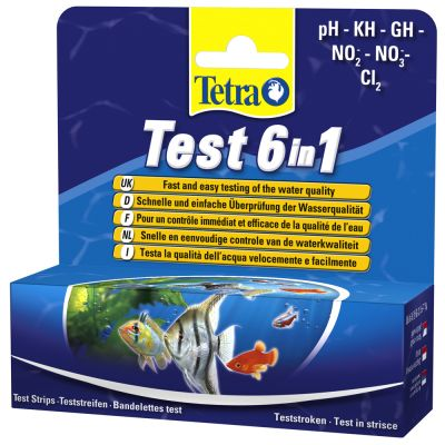 TetraTest 6 in 1 vattentestremsor – 25 st