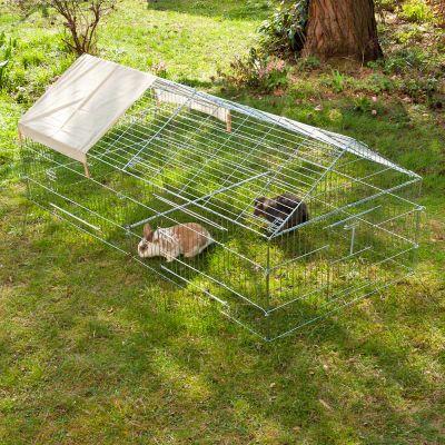 Luxury kaninhage med gallertak – B 220 x D 103 x H 85 cm
