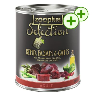 2x zooPlusPisteitä: zooplus Selection koiranruoka 24 x 800 g! - Senior & Light, kana