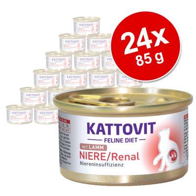 Kattovit Renal 24 x 85 g en latas para gatos - Pack Ahorro - Pollo