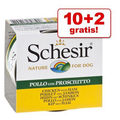 Obraz przedstawiający 10+2 gratis, pakiet Schesir, 12 x 150 g - Filet z kurczaka