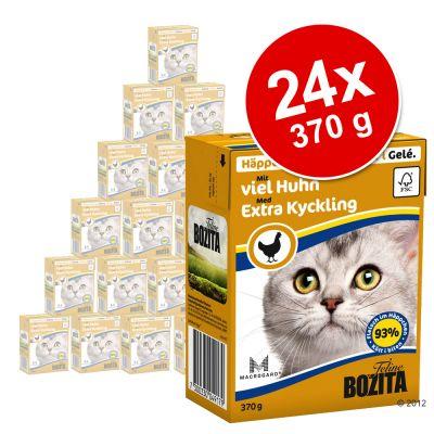 Bozita Chunks -säästöpakkaus 24 x 370 g - in Gravy: naudanliha