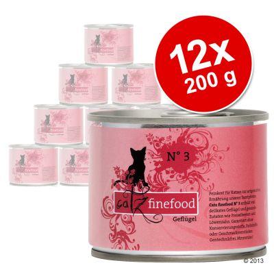 Ekonomipack: Catz Finefood på burk 12 x 200 g – Vilt