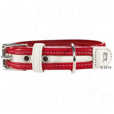 HUNTER Madeira hundhalsband – rött/vitt – Stl 55: 42 – 48 cm halsomfång