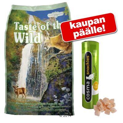 7 kg Taste of the Wild + Cosma Snackies kaupan päälle! - Canyon River Feline