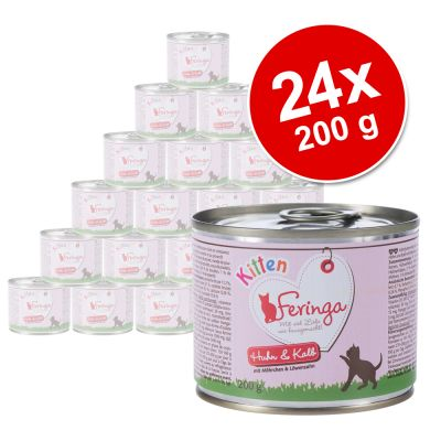Ekonomipack: Feringa Kitten 24 x 200 g – Kalkon