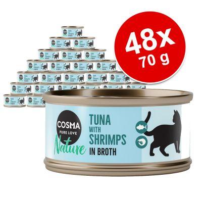 Cosma Nature -säästöpakkaus 48 x 70 g - tonnikala & lammas