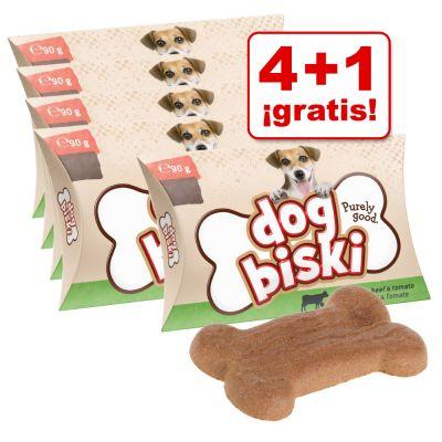 Briantos DogBiski 5 x 90 g snacks en oferta: 4 + 1 ¡gratis! - 5 x 90 g