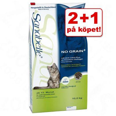 2 + 1 på köpet! 3 x 400 g Sanabelle kattfoder – Urinary