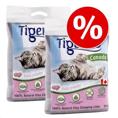 Tigerino Canada kissanhiekka 2 x 12 kg tarjoushintaan! - hajustamaton - 2 x 12 kg