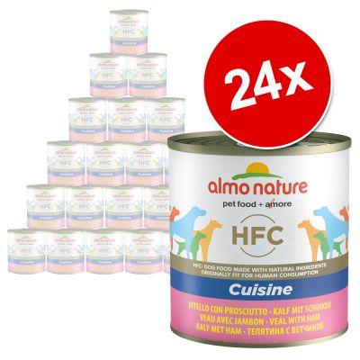 Almo Nature HFC -säästöpakkaus 24 x 280 g / 290 g – nauta & kinkku (290 g)