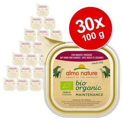 Almo Nature BioOrganic Maintenance -säästöpakkaus 30 x 100 g - vasikanliha & vihannekset