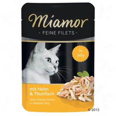 Miamor Fijne Filets Kattenvoer 6 x 100 g - Tonijn in Krab gelei