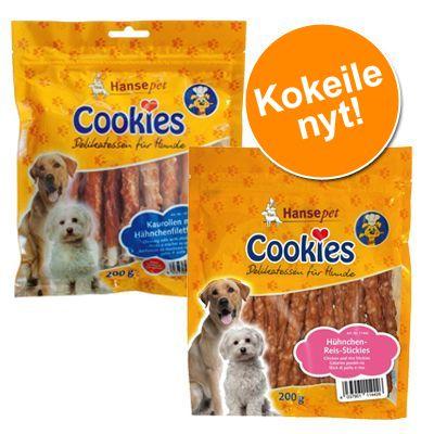 Kokeilupakkaus: Cookie´s Delikatess -kanafiletikut & -kana-riisitikut - 6 x 200 g