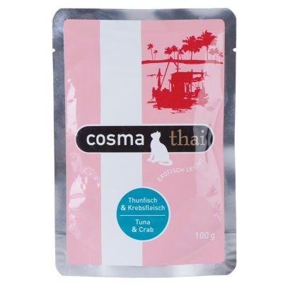 Cosma Thai Pouches 6 x 100 g - lajitelma: 6 makua