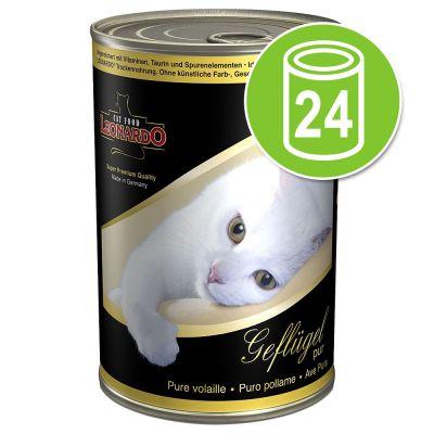 Voordeelpakket Leonardo All Meat Kattenvoer 24 x 400 g Rijk aan Eend
