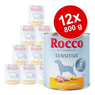 Rocco Sensitive -säästöpakkaus 12 x 800 g - kalkkuna & peruna