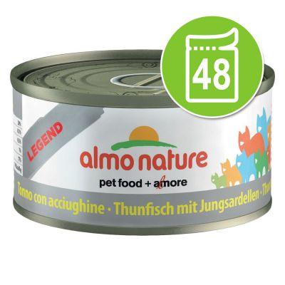 Almo Nature Legend Voordeelpakket Kattenvoer 48 x 70 g - Zalm met Wortel