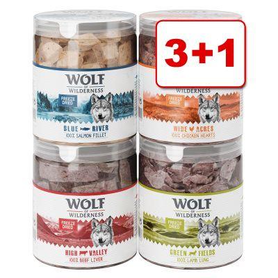 Wolf of Wilderness - kylmäkuivatut herkut: 3 +1 kaupan päälle! - Wide Acres - kanansydän (280 g)