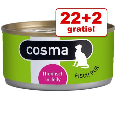 22 + 2 gratis! Bij 24 x 170 g Cosma Original in Gelei Kattenvoer - Sardines
