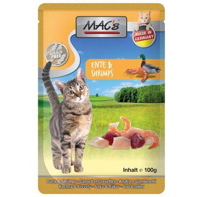 MAC´s Cat Pouch 12 x 100 g - vasikka & nauta