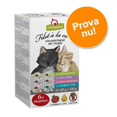 Provpack: GranataPet Filet à la carte 6 x 85 g - Blandpack: 4 sorter