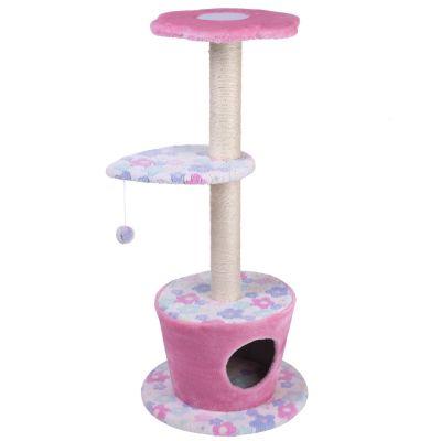 Krabpaal H 110 x Ø 48 cm ´´Bloem´´ Roze Bloemendesign