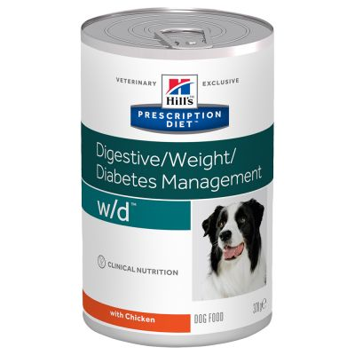 Hill´s Prescription Diet Canine w/d Digestive/Weight/Diabetes Management - kana - 24 x 370 g