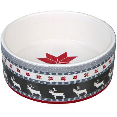 Trixie Winter Keramiknapf grau/rot/weiß