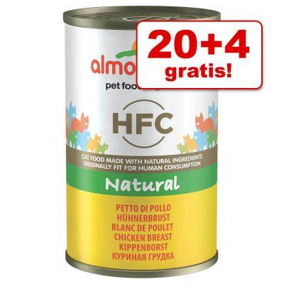 20 + 4 gratis! 24 x 140 g Almo Nature HFC - Kippenborst