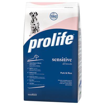 Dog Prolife Sensitive Pork & Rice - säästöpakkaus: 2 x 12 kg