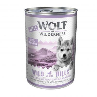 Little Wolf of Wilderness 6 x 400 g - Blue River Junior - kana & lohi